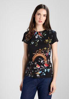 RAYNEE OPULENT FAUNA FITTED TEE - T-shirt z nadrukiem - black