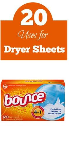 20 Uses For Bounce Dryer Sheets Dryer sheets were invented by a man named Conrad J Gaiser in the who came up with the idea when his wife was tired Dryer Sheets Cleaning, Uses For Dryer Sheets, House Cleaning Tips, Cleaning Hacks, Canadian Free Stuff, Bounce Sheets, Life Hacks Every Girl Should Know, Shower Cleaner, Thirty One Bags