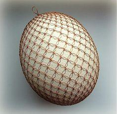 Veľká Noc - pštrosie drôtené vajíčko - 3709545