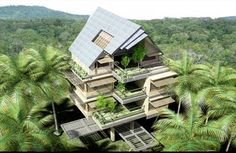 Modern concept for multi-level traditional Filipino Bahay Kubo!