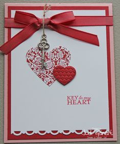 50 Amazing Ideas For Valentine Handmade Cards You are in the right place about Handmade Gifts for college students Here … Valentine Love Cards, Valentine Day Crafts, Handmade Valentines Cards, Valentine Nails, Valentine Ideas, Creative Cards, Anniversary Cards, Homemade Cards, Stampin Up Cards