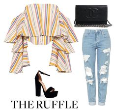 """""""Untitled #1498"""" by carson729 ❤ liked on Polyvore featuring Barneys New York, Caroline Constas, Topshop, Boohoo and ruffles"""