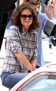 Katie Holmes from The Big Picture: Today's Hot Pics  Holmes films scenes for her new flick All We Had in Brooklyn.