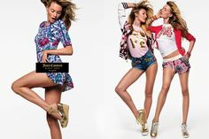 Behati, and Candice and Behati -- Inez & Vinoodh shoot Juicy Couture's spring 2016 campaign.