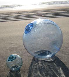 blue glass fishing float