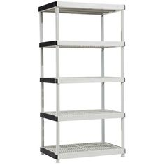 HDX, 36 in. W x 72 in. H x 18 in. D Plastic Ventilated Storage Shelving Unit, 17601099 at The Home Depot - Mobile