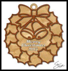 Scrollsaw Workshop: Eight Inch Christmas Wreath Scroll Saw Pattern.