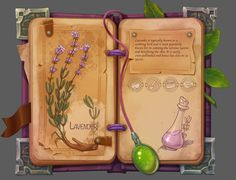 It was interesting for me to combine Botanical illustration and in-game ingredients menu)) Web Design, Prop Design, Game Design, Game Concept, Concept Art, Game 2d, Sword Design, Game Item, Game Assets