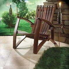 Wine Barrel Stave Adirondack Chair