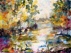 Georgia Okefenokee Morning Painting