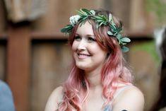 Melissa and Josh–Married at a Private Big Sur Redwood Venue - Blue Sky Elopements Laurel Wreath, Wedding Flowers, Wedding Dresses, Big Sur, Flower Crown, Flower Girl Dresses, Sky, Bridal, Bride Dresses