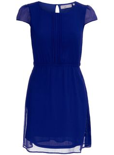 Blue pleat floaty dress - Billie & Blossom - Petite Clothing - Clothing - Dorothy Perkins United States