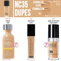 Mac Foundation Dupes, Mac Studio Fix Foundation, Mac Studio Fix Fluid, How To Match Foundation, Best Drugstore Dupes, Mac Dupes, Skincare Dupes, Lipstick Dupes, Drugstore Beauty
