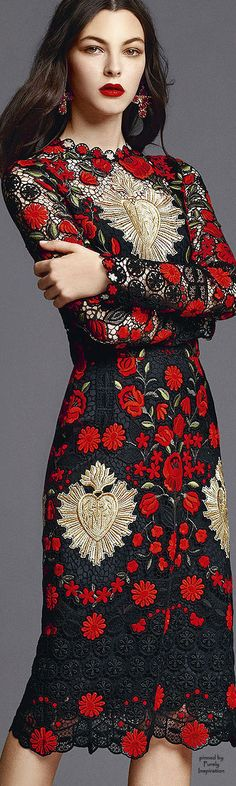 Hells Blazin' this is hot...i would definitely sin in this one...Dolce & Gabbana S/S 2015 RTW