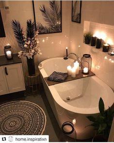Home Interior Design - Cozy Bathroom # .- Home Interior Design – Gemütliches Badezimmer Home interior design – cozy bathroom - Bohemian Bathroom, Cozy Bathroom, Modern Bathroom, Scandinavian Bathroom, Bathroom Candles, Rental Bathroom, Minimal Bathroom, Bath Candles, Palm Tree Bathroom