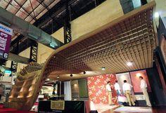 sameep padora and associates: temporary pavilion (cardboard)