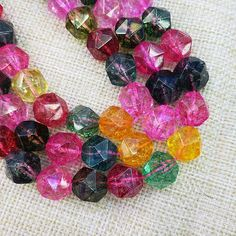 """Colorful Quarzt beads , Cut Beads , Gemstone Beads , Beads wholesale For Jewelry Making (size 6/8/10/12mm) 15"""" Full Strand"""