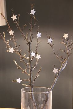 Tree branch with stars for the bathroom