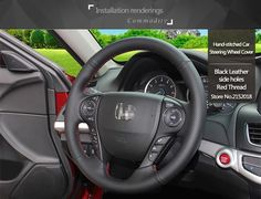Shining wheat Hand-stitched Black Leather Steering Wheel Cover for Honda Fit CityUSD 21.15/pieceShining wheat Hand-stitched Black Leather Steering Wheel Cover for Honda CRV 2012 -2014USD 21.15/pieceShining wheat Hand-stitched Black Brown Leather Steering Wheel Cover for  Honda New Fit City Jazz 2014-2015USD 39.