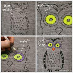 Роспись подушек красками и маркерами по ткани. Шаблон и мастер-класс