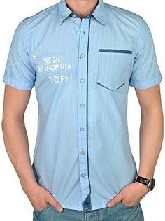 Tom Tailor Camisa Hombre (Azul Claro   Naranja) 88c3eb2982470