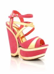 metallic accented wedges