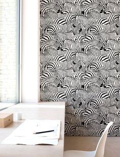 Zebra print Wallpaper Removable Wallpaper by Jumanjii on Etsy