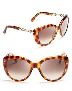 Jimmy Choo Link Temple Cateye Sunglasses | Bloomingdale's