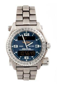 Vintage Breitling Men's Emergency Superquartz E76321 Titanium Watch by Austin's Watches on @HauteLook