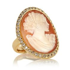 AMEDEO NYC® Marisa in Capri Cornelian Cameo Ring