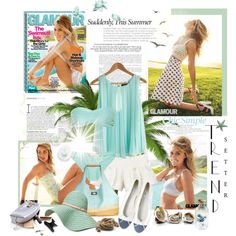 L.C. summer, created by giuliabday2309 on Polyvore.  Beachy and breezy