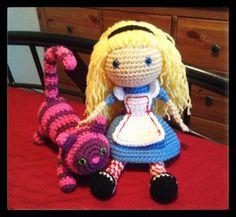 Alice in Wonderland Soft Body Crochet Doll for Play by ladyjunebug, $40.00