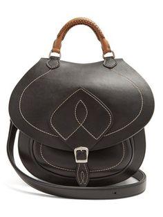 fe2bd7e810896b Bag-Slide leather cross-body bag