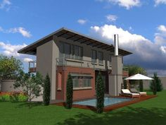 Contemporary 209m² Western Entrance House Plan