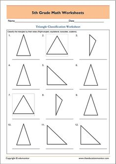 Area of triangle worksheet 5th grade