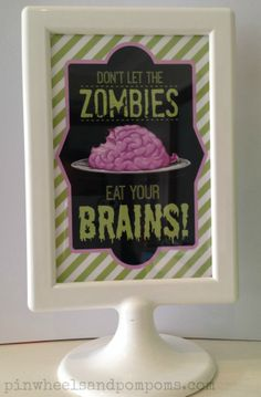 cute framed print for a Plants vs Zombies party