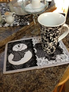 "Cutest ""Winter-January"" Mug Rug - could not find on her link"