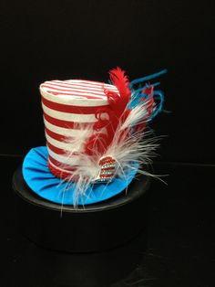 Dr Suess Mad Hatter Mini Top Hat.  Great for Steampunk, Birthday Parties, Photo Prop, Girls Night Out and Much More... on Etsy, $29.95