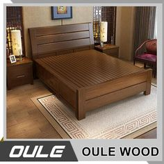 Solid wood beds Solid wood beds Hot Sale Ash Solid Wood Double Bed New Design Fashion Wooden Bed The post Solid wood beds appeared first on Wood Ideas. Sofa Design, Wood Bed Design, Bedroom Bed Design, Bedroom Furniture Design, Bed Furniture, Wooden Furniture, Bed Designs In Wood, Modern Bed Designs, Bed Back Design