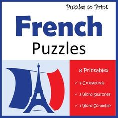 French language worksheets: a bundle of French vocabulary puzzle activities for kids.