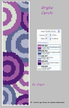 GioGio: Griglie/pattern peyote    click thru for lots of grids