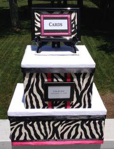 zebra print wedding card boxzebra by AlltheBestCardBoxes on Etsy
