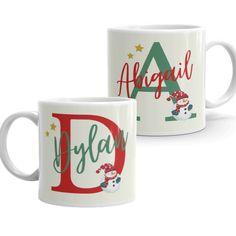 Child's Christmas 6oz Mug - Cute Personalised Children's Xmas Gift with Santa Image - Small Ceramic Cup for Kids Ceramic Cups, Kids Christmas, Xmas Gifts, Santa, Ceramics, Mugs, Children, Tableware, Xmas Presents