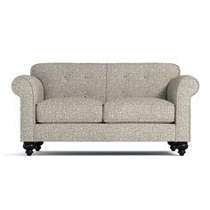 Pico Tufted Back Apartment Size Sofa CHOICE OF FABRICS