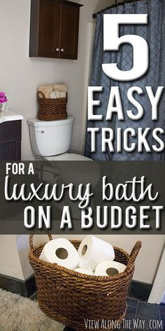 Make your guest bathroom feel luxurious for guests with a few simple steps!