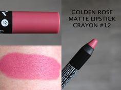 MAKEUP ARENA: Golden Rose Matte Lipstick Crayon -12