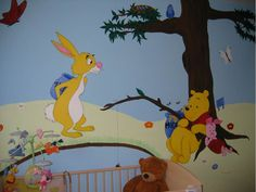 Peinture murale Winnie the Pooh