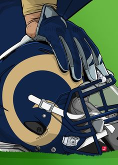 "NFL Team Helmets Los Angeles Rams #Displate artwork by artist ""Akyanyme Dotcom"". Part of a 32-piece set featuring helmet designs based on team emblems from the NFL National Football League. £38 / $51 per poster (Regular size), £76 / $102 per poster (Large size) #NFL #NationalFootballLeague #AmericanFootball #SuperBowl #LosAngelesRams #LARams #Rams"