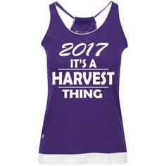 2017 it's a harvest thing!! Juniors' Vintage Heathered Tank