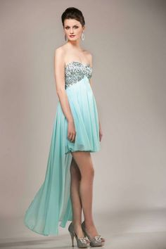 Long or short? No need to choose with this lovely watergreen dress Strapless Dress Formal, Formal Dresses, Dress Long, Collection, Fashion, Dress, Dress Ideas, Fashion Ideas, Green